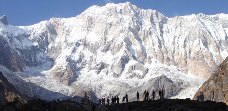 Trekkers in Annapurna Base Camp