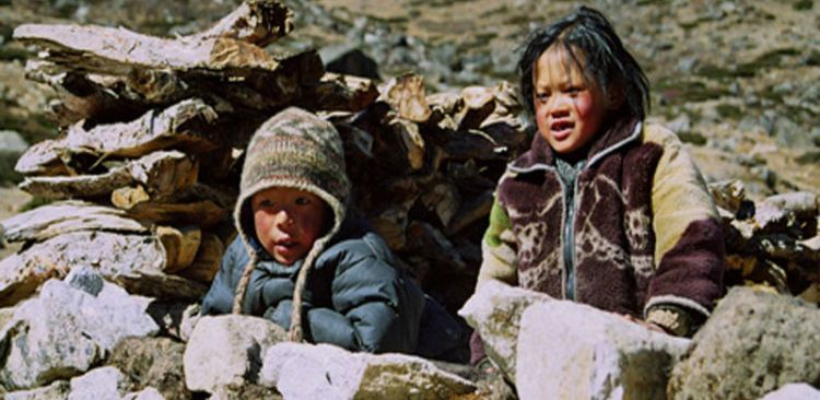 Sherpa children in Helambu