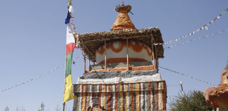 Colorful Chorten in Upper Mustang